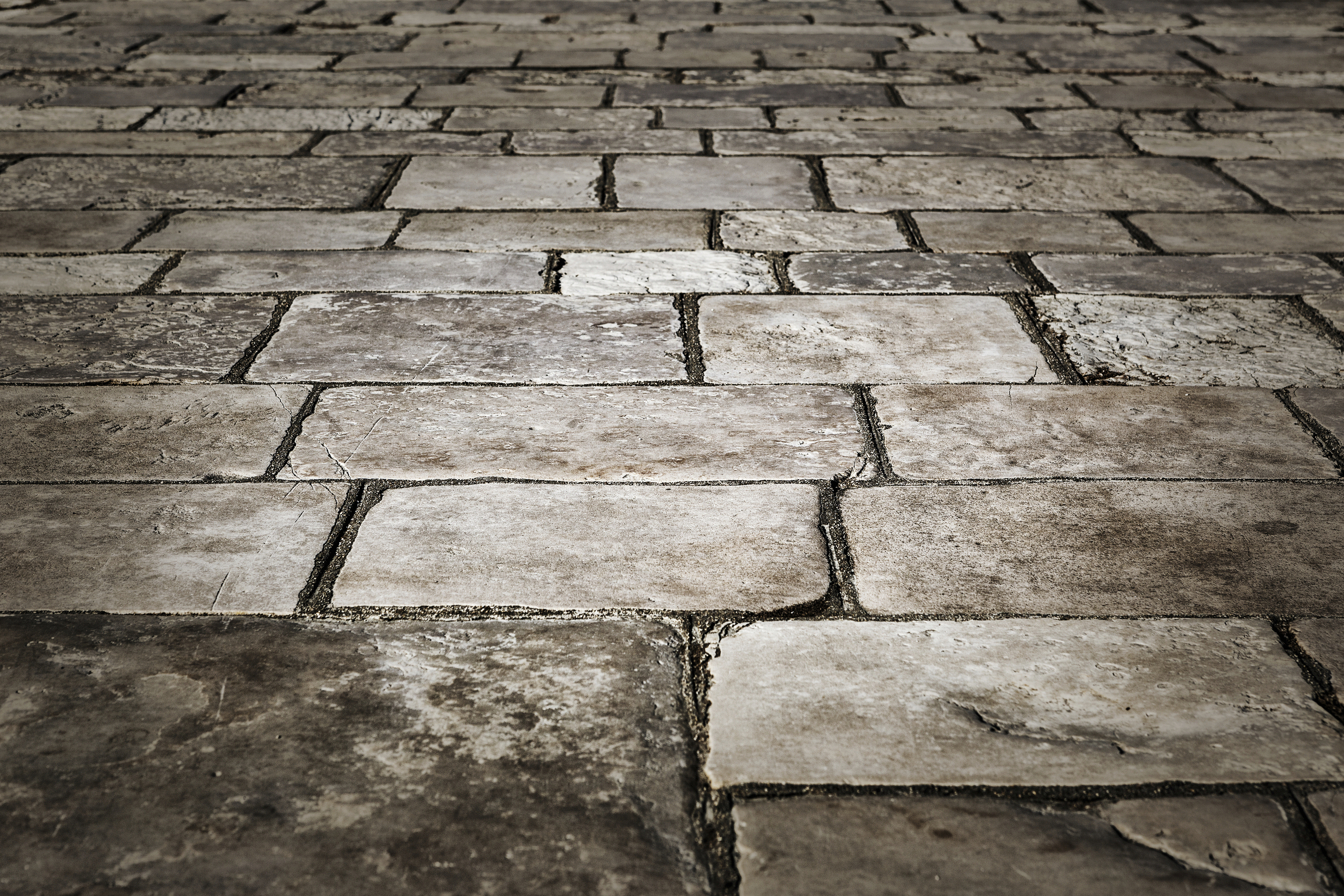 Medieval street paved with the cobble stones -Corfu, Greece, Europe