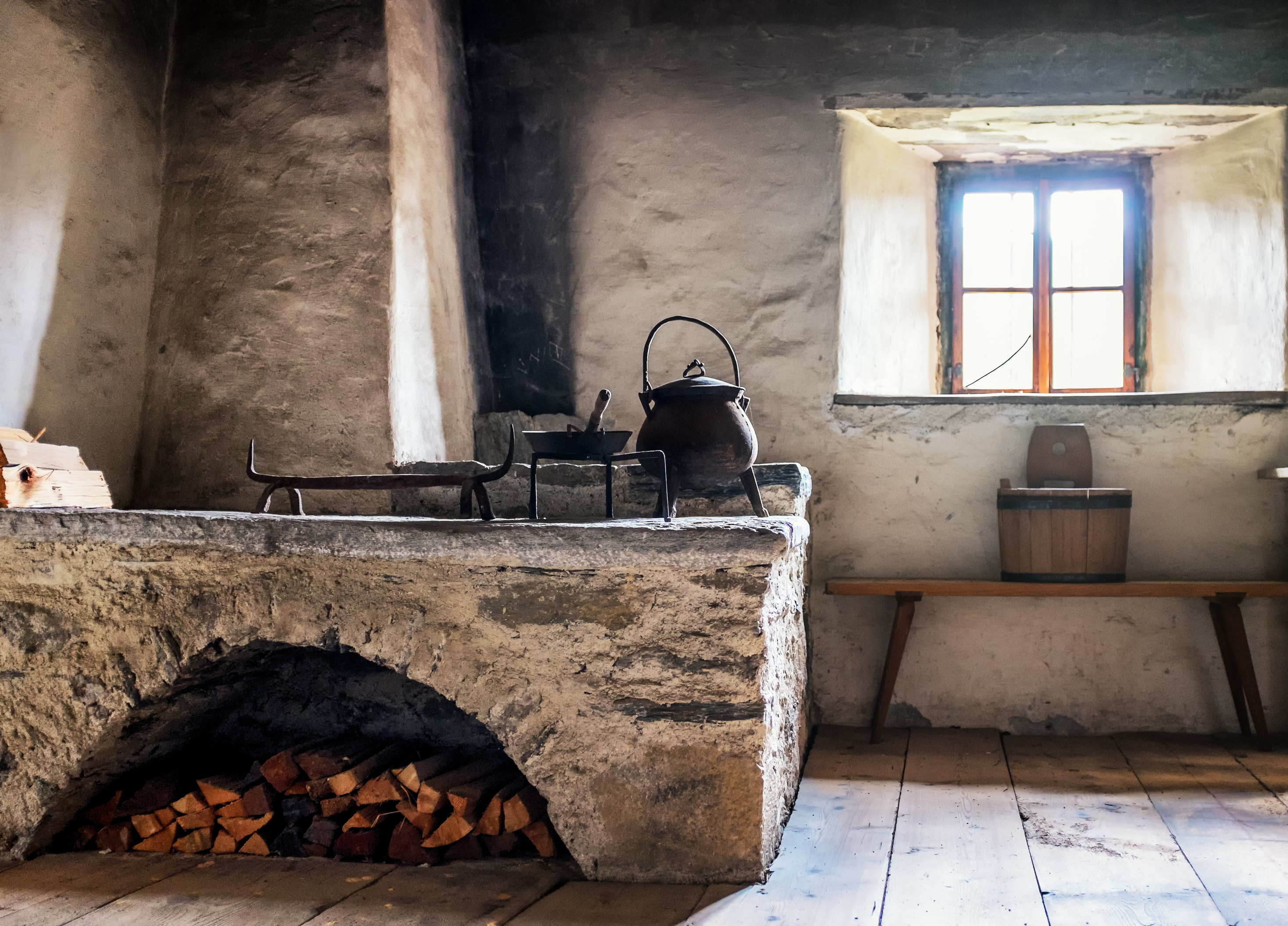 old kitchen at a farm