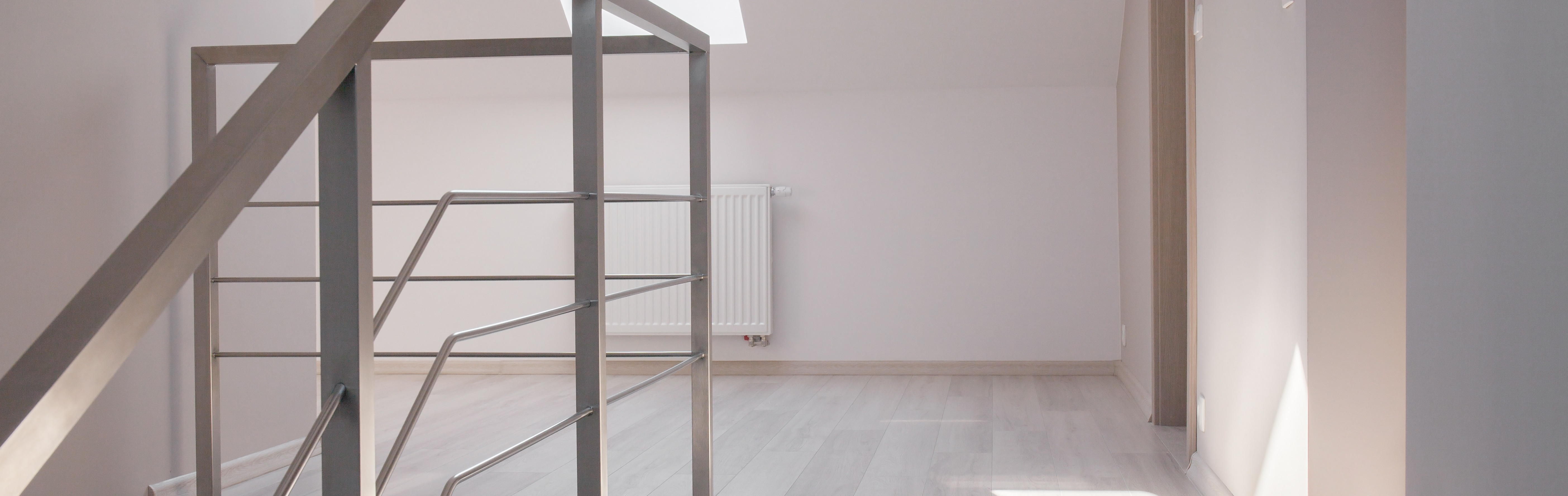 Second floor view in modern commodious house