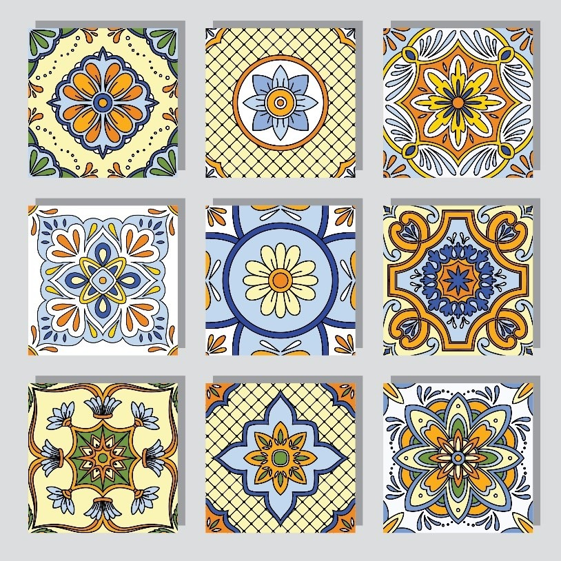 intricate tile patterns